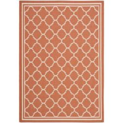 Poolside Terracotta/ Bone Indoor/ Outdoor Area Rug (6'7 x 9'6)