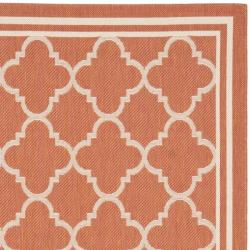Poolside Terracotta/ Bone Indoor Outdoor Rug (8' x 11'2)