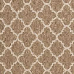 Safavieh Poolside Brown/ Bone Indoor Outdoor Rug (8' x 11'2)