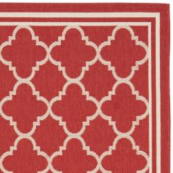 Poolside Red/Bone Indoor/Outdoor Area Rug (8' x 11'2