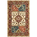Handmade Heritage Panels Multi/ Red Wool Rug (2' x 3')