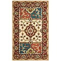 Handmade Heritage Panels Multi/ Red Wool Rug (3' x 5')