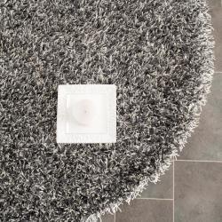 Safavieh Medley Textured Shag Platinum Rug (5' Round)