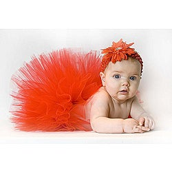 All Red Tutu and Headband Set