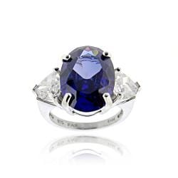 Icz Stonez Sterling Silver Cubic Zirconia 3-stone Solitaire Ring
