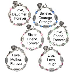 Personalized Sentiment Bracelets Sentiments inch Heart