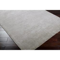 Candice Olson Hand-knotted Gray Apeiro Geometric Wool Rug (8' x 11')