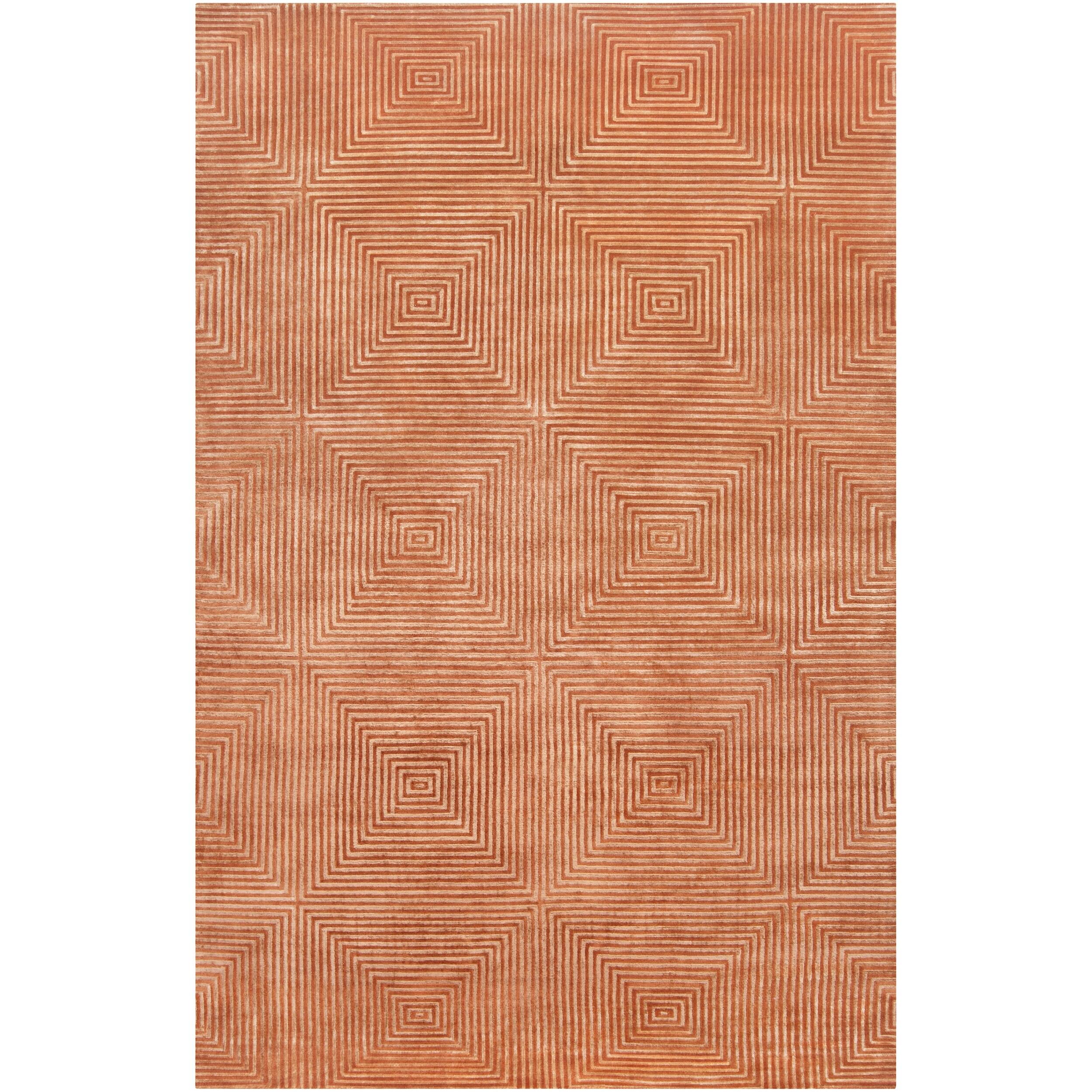 Surya Candice Olson Hand-knotted Orange Arseno Geometric Wool Rug (4' x 6') at Sears.com
