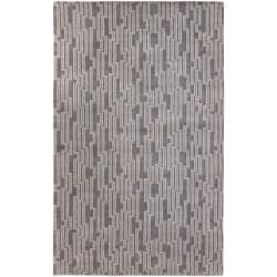 Candice Olson Hand-knotted Gray Arachne Geometric Wool Rug (8' x 11')