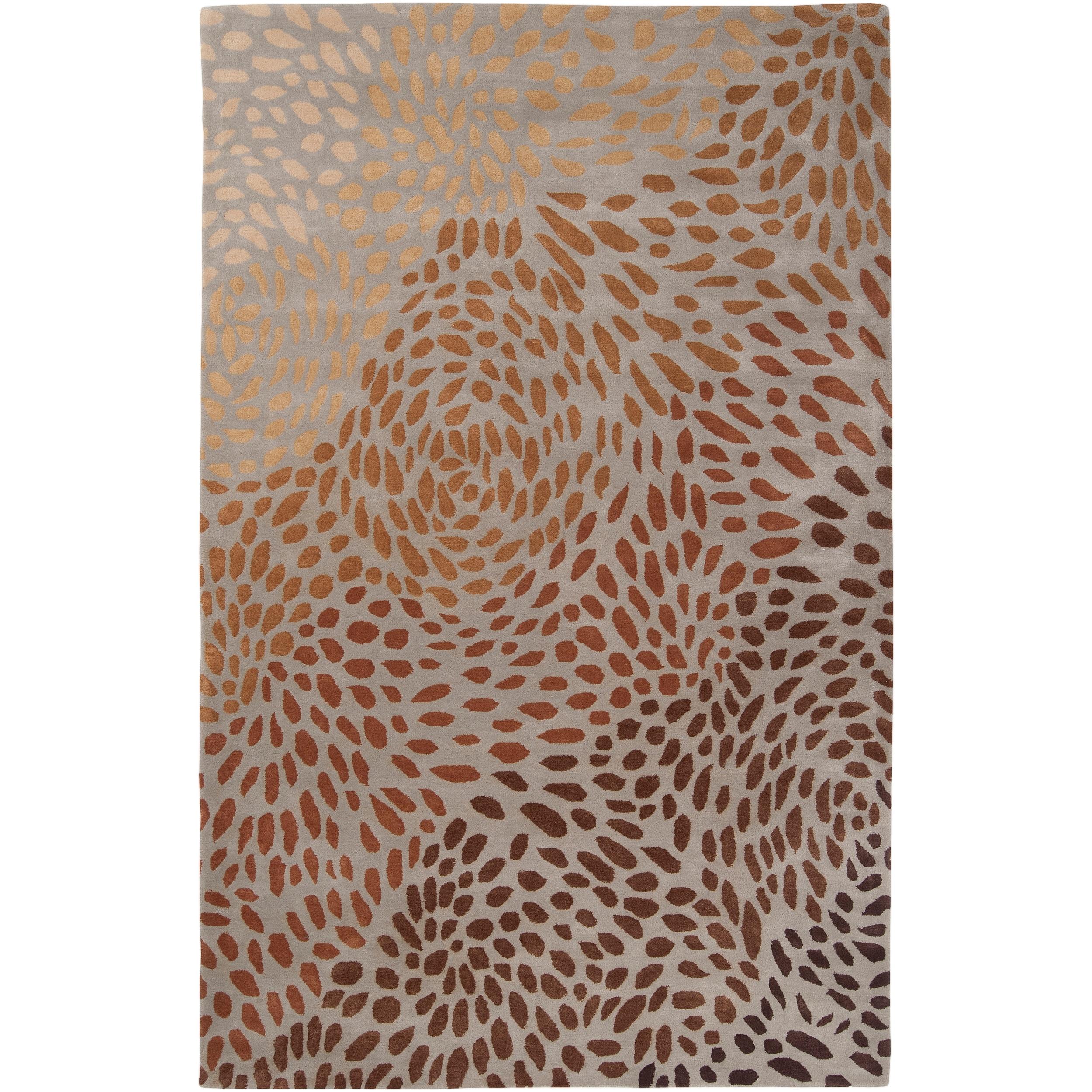 Hand-tufted Tan Allodox New Zealand Wool Rug (3'3 x 5'3)