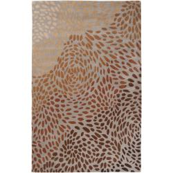 Hand-tufted Tan Allodox New Zealand Wool Rug (3'3 x 5'3)