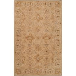Hand-tufted Tan Acaro New Zealand Wool Rug (5' x 8')