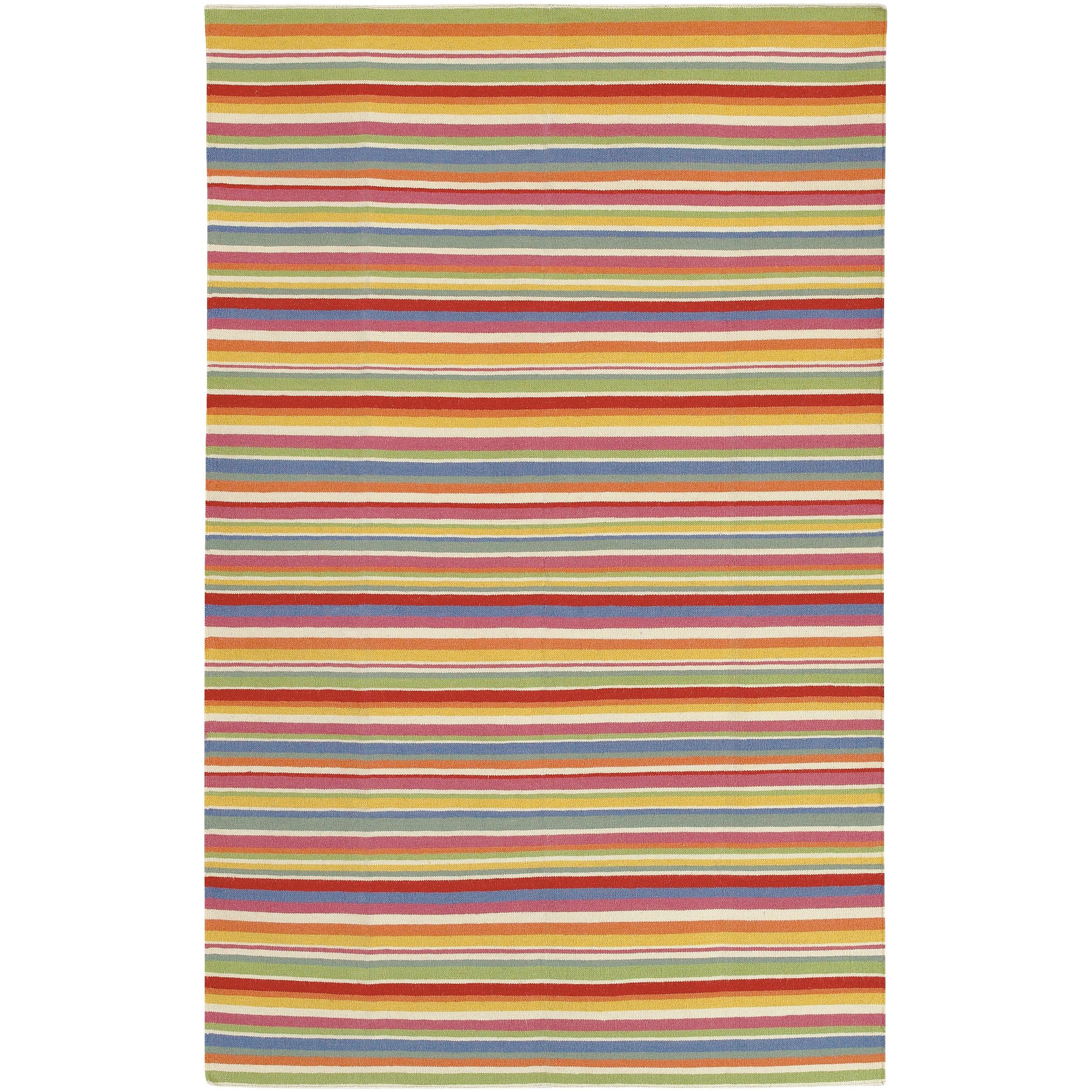 Hand-woven Orange Aero Wool Rug (3'6 x 5'6)