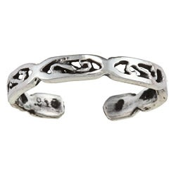 Sterling Silver Mini Scroll Toe Ring