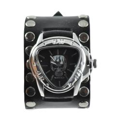 Nemesis Men's Triangle Skull and Flame Watch