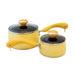 Paula Deen Signature Porcelain 'Butter' 2-piece Saucepan Set