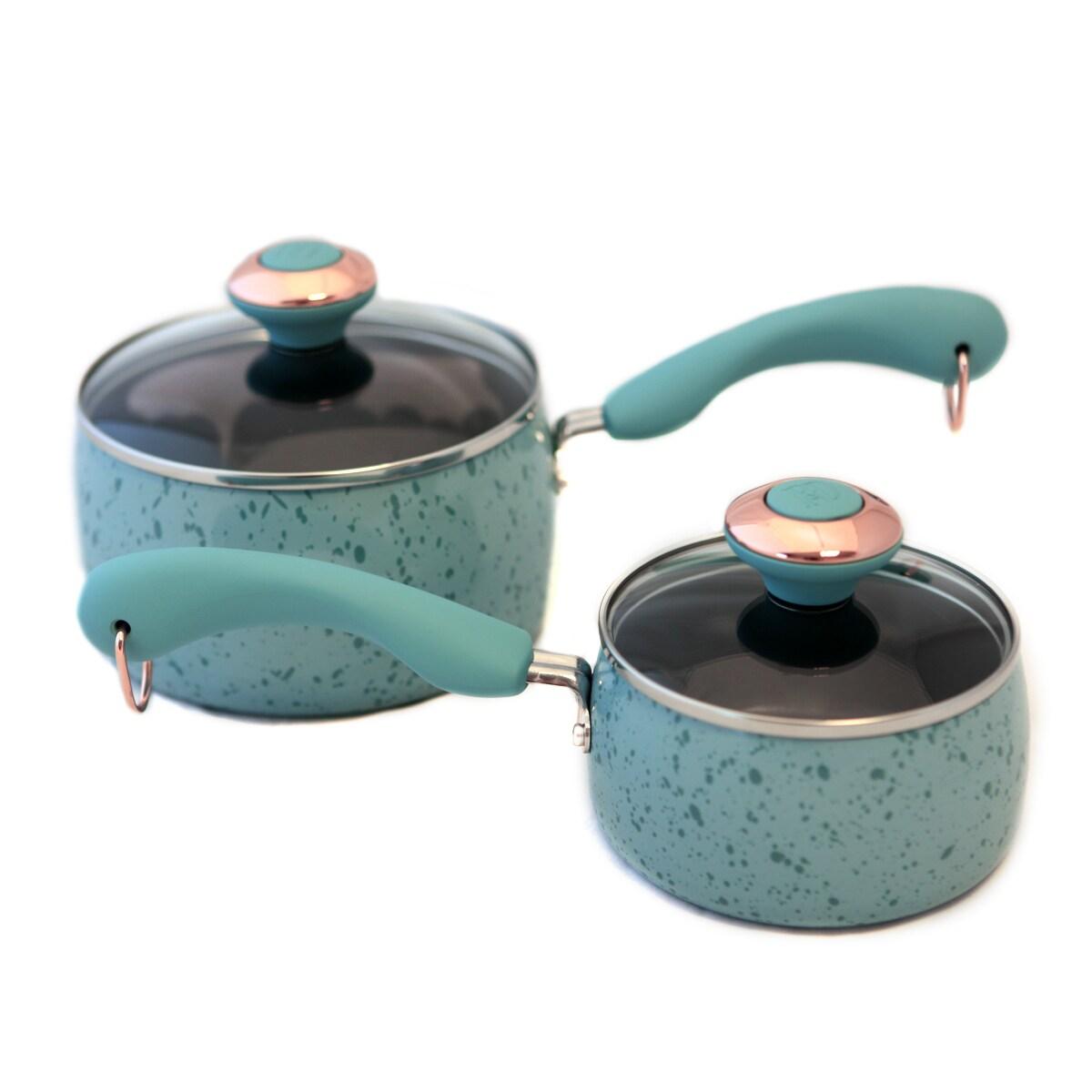 Paula Deen Signature Porcelain Robin's Egg Blue Saucepan Set