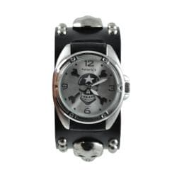 Nemesis Men's Punk Cross Bones and Skull Watch