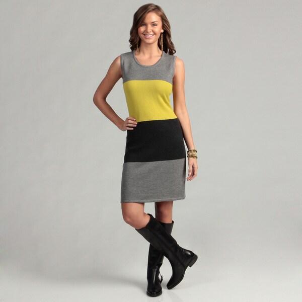 Calvin Klein Women's Clorblock Striped Sweater Dress