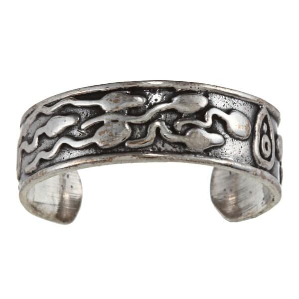 Sterling Silver Fertility Toe Ring