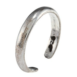 Sterling Silver Classic Plain Narrow Toe Ring