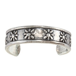 Sterling Silver Sun Toe Ring