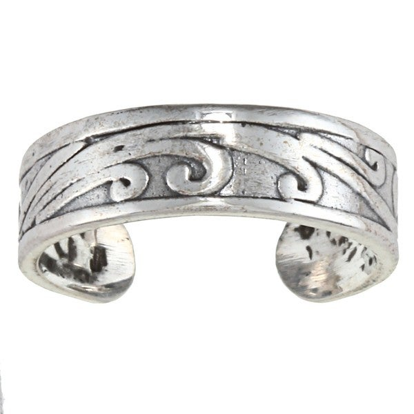 Sterling Silver Blowing Wind Toe Ring