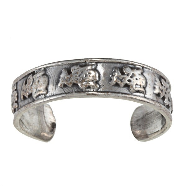 Sterling Silver Caveman Toe Ring