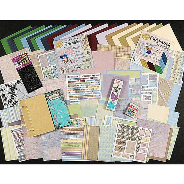 Hot off the Press Friendship Collection Multicolored Scrapbooking Set