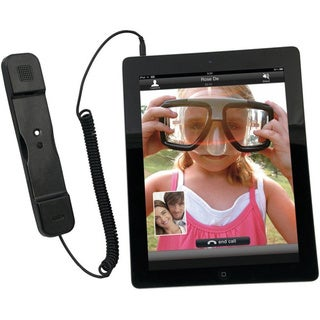 CTA Digital Radiation Safe Telephone Handset for iPad & iPhone (BLACK
