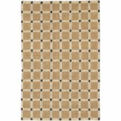 Hand-woven Mandara Tan Rug (2' x 3')