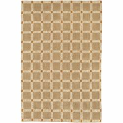 Handwoven Mandara Tan Indoor Rug (2' x 3')
