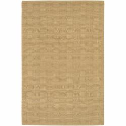 "Handwoven Mandara Tan Rug with Hexagon Pattern (3'6"" x 5'6"")"
