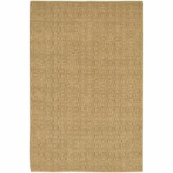 Handwoven Mandara Contemporary Tan Rug (5' x 7'6)