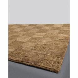 Handwoven Mandara Brown Area Rug (7'9