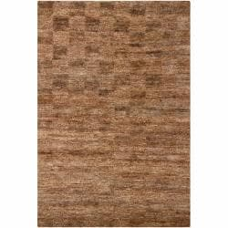 "Handwoven Mandara Wheat Brown Jute Rug (7'9"" x 10'6"")"