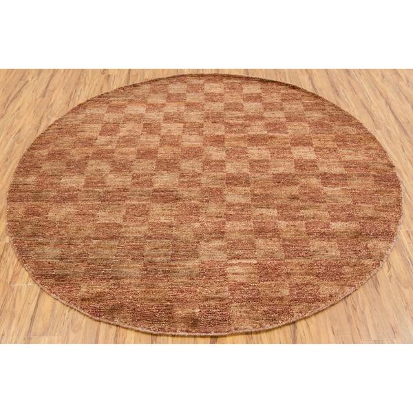 """Handwoven Mandara Geometric Rug (7'9"""" Round)"""