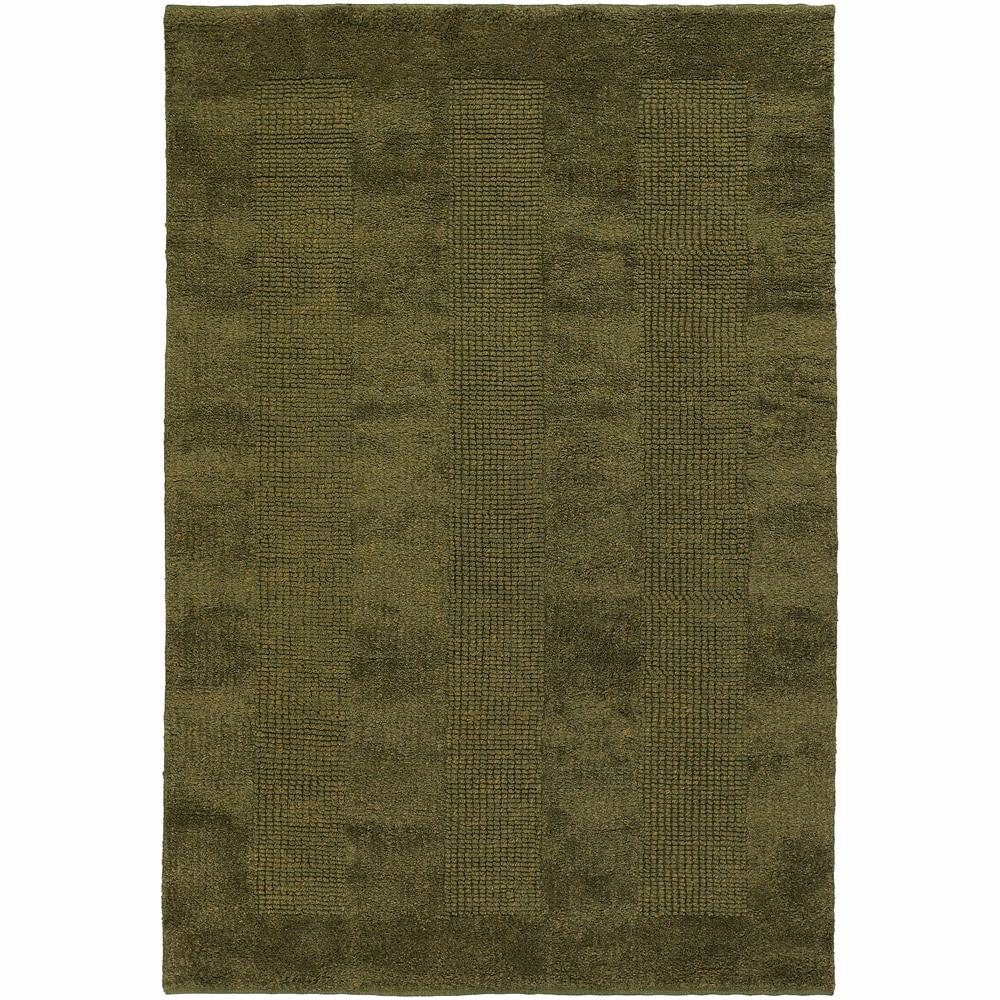 Hand-woven Mandara Green Rug (7'9 Round)
