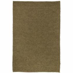 Contemporary Handwoven Mandara Brown Rug (7'9 Round)