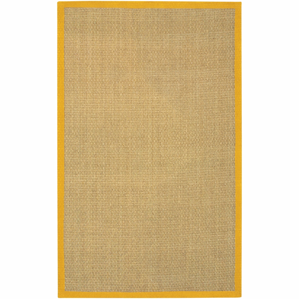 Hand-Woven Mandara Orange Border Rug (8' x 10')