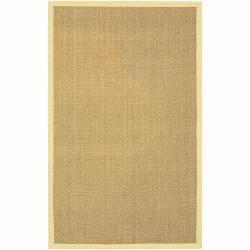 Hand-woven Mandara Yellow Border Rug (3'6 x 5'6)