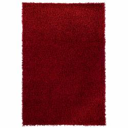 Contemporary Handwoven Mandara Red Shag Rug (7'9