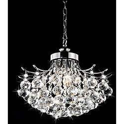 Indoor Chrome Crystal Ball 3-light Chandelier