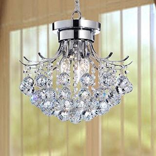 Indoor Chrome Crystal Ball 3-light Chandelier