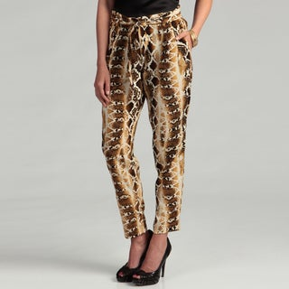 Jessica Simpson Junior's Snakeskin Print Pants