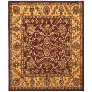 Safavieh Handmade Golden Jaipur Burgundy/ Gold Wool Rug (11' x 17')