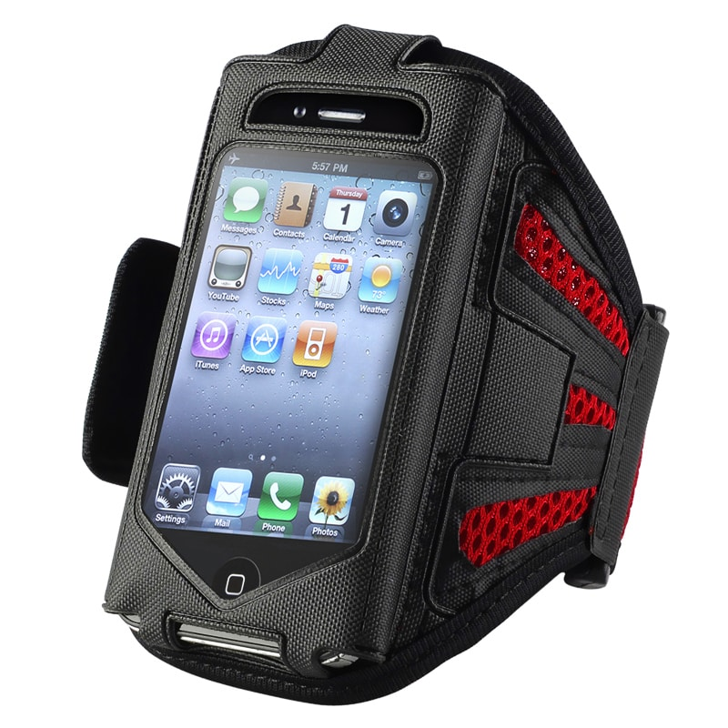INSTEN Black/ Red Armband for Apple iPhone 2nd/ 3rd Generation