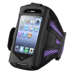 INSTEN Black/ Purple Armband for Apple iPhone 2nd/ 3rd Generation