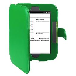 Green Leather Case for Barnes and Noble Nook 2