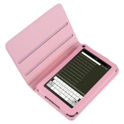 Pink 360-degree Swivel Leather Case for Amazon Kindle Fire